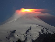 The Villarrica Volcano is seen at night in Pucon, Chile, December 5, 2017. Photo by Cristobal Saavedra—@reuters