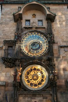 Need to check the time? The oldest working astronomical clock in the world!  Prague, Czech Republic.