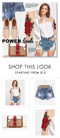 """""""What's Your Power Look?"""" by svijetlana ❤ liked on Polyvore featuring powerlook and shein"""