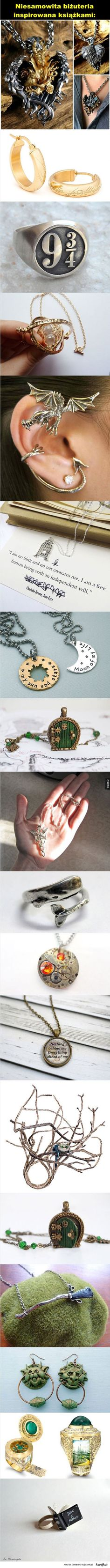 jewelry inspired by books