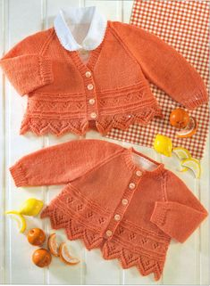 Baby Cardigans Tulip/Leaf Pointed Border & Flower Panel 4 Ply 26 To Knit 5392541800801 Baby Knitting Patterns, Baby Cardigan Knitting Pattern Free, Knitted Baby Cardigan, Baby Pullover, Baby Patterns, Hand Knitting, Vintage Knitting, Baby Sweaters, Knitting For Beginners