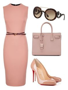 """005"" by gerusa-strey on Polyvore featuring moda, Victoria Beckham, Christian Louboutin, Yves Saint Laurent e Prada"