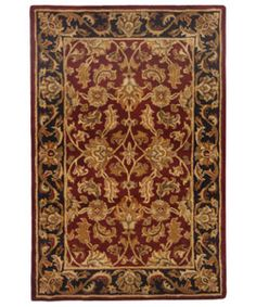 @Overstock - Traditional elegance enhances your living room, den, or study Hand-tufted of 100-percent wool pile Classic floral vines pattern against a red background with a black border http://www.overstock.com/Home-Garden/Handmade-Heritage-Kashan-Burgundy-Black-Wool-Rug-4-x-6/2184016/product.html?CID=214117 $109.99