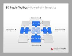 Puzzle Vorlagen für hochwertige PowerPoint-Präsentationen http://www.presentationload.de/powerpoint-charts-diagramme/puzzle/