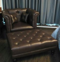 Quilted leather chair & Table