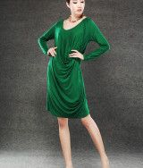 Green dress for Women cotton dress
