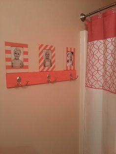 The girls bathroom that I painted/decorated!