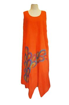 Check out this item in my Etsy shop https://www.etsy.com/uk/listing/464648411/orange-cotton-dress-summer-cotton-dress