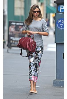 Pantalones floreados, estan con todo!!