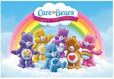 Care Bears Backdrop Birthday party Photography Care bears party banner x Printed Care Bear Party, Care Bear Birthday, Birthday Party Photography, Baby Shower Photography, Care Bears, Rainbow Birthday Party, Blue Birthday, Birthday Cakes, Bear Theme