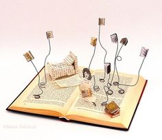 Books and wire... Books and art :)