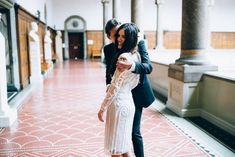 This beautiful couple who just couldn't wait for that kiss: | 29 City Hall Weddings That Prove Less Is More