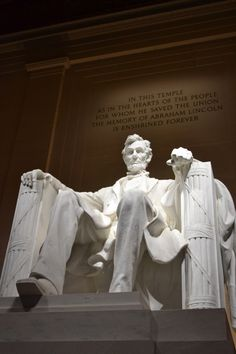 """""""In this temple, as in the hearts of the people for whom he saved the Union, the memory of Abraham Lincoln is enshrined forever."""" Beneath these words, the 16th President of the United States sits immortalized in marble as an enduring symbol of unity, strength, and wisdom. Lincoln Memorial is part of the National Mall and Memorial Parks. The memorial stands in West Potomac Park, near the convergence of numerous roads from throughout the Washington, D.C. metropolitan area."""