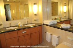 Bathroom sinks, Grand Suite, Navigator of the Seas Navigator Of The Seas, Bathroom Sinks, Cruise Ships, Rock Climbing, Vacations, Places, Holidays, Vanity Tops, Lugares