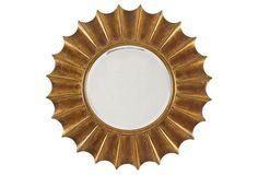 "One Kings Lane Gold Coast Wall Mirror, Gold 36"" diameter $819"
