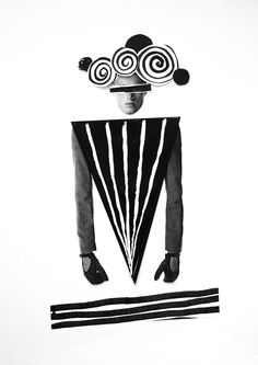 -Ciara Phelan- 'Bauhaus' *These illustrations are a series of experimental collages inspired by Oskar Schlemmer's 'Triadic Ballet' from the Bauhaus era. The focus of this project was to deconstruct contemporary fashion photography and reconstruct using handmade texture and geometric shapes to create something reminiscent of Schlemmers original creations. -Personal Project-