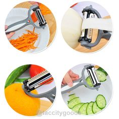 Multifunctional 360 Degree Rotary Vegetable Peeler Slicer Cutter - Kitchen Gadgets - Tac City Goods Co - 2  Link in the bio