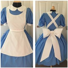 Lace trim to sleeves and apron Large padded bow to back of dress Petticoat not included Disney park inspired design Epic Halloween Costumes, Alice Halloween, Adult Costumes, Adult Halloween, Alice Cosplay, Alice Costume, Pink Costume, Princess Inspired Outfits, Disney Princess Dresses