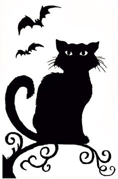 Spooky Hollow Halloween Window Decoration Witch or Cat Silhouette (Cat) Diy Halloween, Adornos Halloween, Manualidades Halloween, Halloween Images, Halloween Disfraces, Holidays Halloween, Halloween Themes, Vintage Halloween, Halloween Decorations