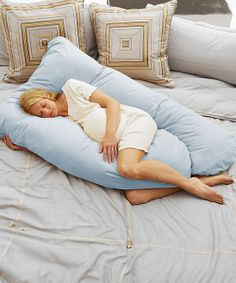 Pregnancy perfection! Sorry hubby...Sky Blue Cozy Comfort Pregnancy Pillow