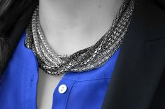 Fabulous 30s, fashion, style, accessories, bling, silver, necklace, beautiful