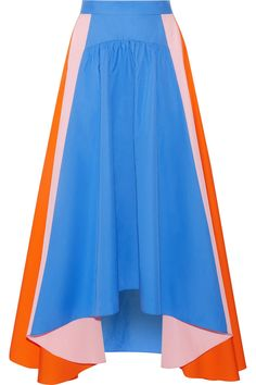Bright-blue, baby-pink and bright-orange cotton-poplin Concealed zip fastening along back 100% cotton Dry clean Imported