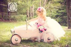Pretty Pink Princess Vintage Couture Tutu Dress Photography Prop