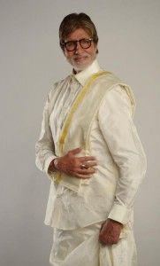 Amitabh Bachchan poses with south stars in mundu