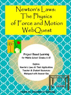 This webquest / Internet scavenger hunt is a perfect one day activity for middle schoolers to learn more about the Sir Isaac Newton's laws of physics and their application. In addition, they'll learn a little about some of the other things Newton was famous for!  Lesson includes resources for the teacher and student, the student handout and an answer key. This is a great lesson to leave with a sub too!