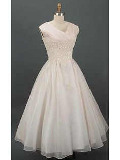 Authentic 1950's Silk and Lace Wedding Dress