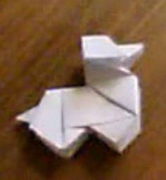 Perro de papel. Papiroflexia