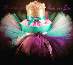 Little luxuries Nappy Cake a little market halo crown welcome home baby June birthday gift