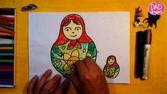 How to draw a Russian doll / Art for Kids / Matryoshka
