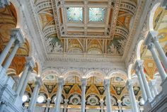 Another one of the beautiful ceilings inside the Library of Congress