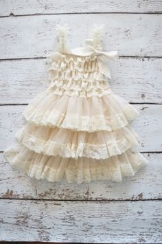 Flower Girl Dress  Lace Flower girl dress  Baby by PoshPeanutKids, $35.00...this would b cute on Kins.