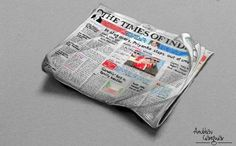 Times of India Newspaper (Drawing)