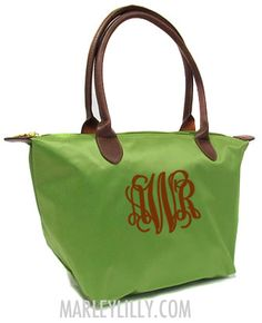 Monogrammed Green Champ Style Purse