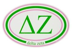 Delta Zeta Oval Car Decal sassysorority.com