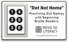 Fun activity to practice identifying dot positions with beginning braille readers