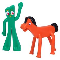 Gumby & Pokey Poseable Figures - 3 inch