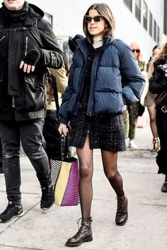 The One Piece to Wear With Dresses This Winter via @WhoWhatWear