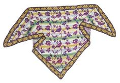 Birds, butterflies and flowers. Design by Christel Seyfarth. I like the purple and gold together - very elegant.