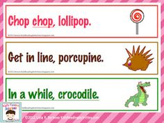 cute rhyming printable from a fantastic site... free!