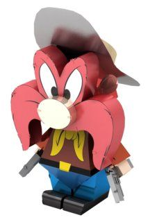 Metal Earth Models, Metal Models, Earth 3d, Yosemite Sam, 3d Puzzles, Looney Tunes, Fascinator, Headdress, Headpiece