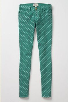 i'm about to buy these this second.  I wish - cuase I really want them!  green polka dot pants