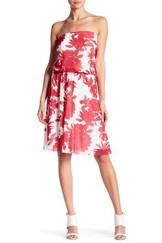 Strapless Floral Print Dress by Petit Pois on @HauteLook