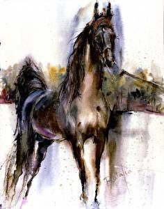 Tennessee Walker Watercolor horse print SIGNED by the by ratafia, $43.50. GORGEOUS PAINTING!!!!