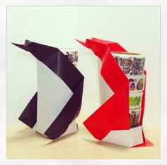 origami penguin folding instructions