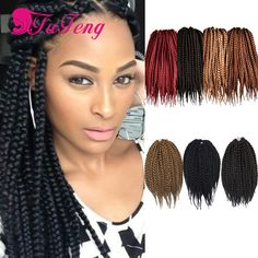 Box Braids Hair Crochet Crochet Hair Extensions Synthetic Crochet ...