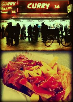 Currywurst was invented by Herta Heuwer in 1949. Influenced by the American and British troops who loved ketchup and curry. Try it!